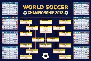 World Soccer Championship 2018 Wall Chart Cool Wall Decor Art Print Poster 24x36