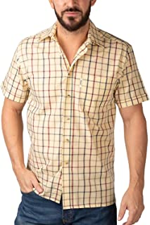 Rydale Men's Classic Short Sleeved Shirts Polycotton Checked Summer Tops