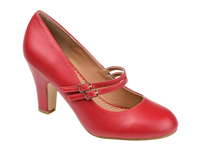 1950s Shoe Styles: Heels, Flats, Sandals, Saddle Shoes Journee Collection Windy Pump Red Womens Shoes $42.99 AT vintagedancer.com
