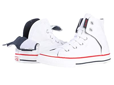 Converse Kids Chuck Taylor(r) All Star(r) Easy Slip (Little Kid/Big Kid) (White/Navy/Red) Kids Shoes