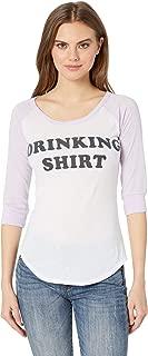 Women's Drinking Shirt Vintage Jersey Baseball Tee