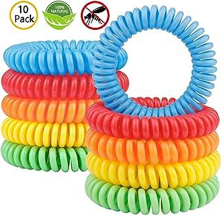 Gritin Bracelet Anti-Moustique [Lot de 10], Bracelets Anti-Moustiques Naturel- 100% Huile..