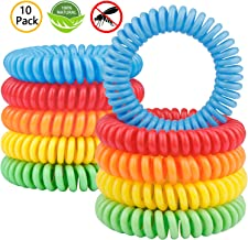 Gritin Mosquito Repellent Bracelet, (10 Pack) All Natural DEET Free Anti Insect Bands,Keep Away Insects,Bugs and Midge,Long-lasting Waterproof and Safe Pest Control for Kids and Adults