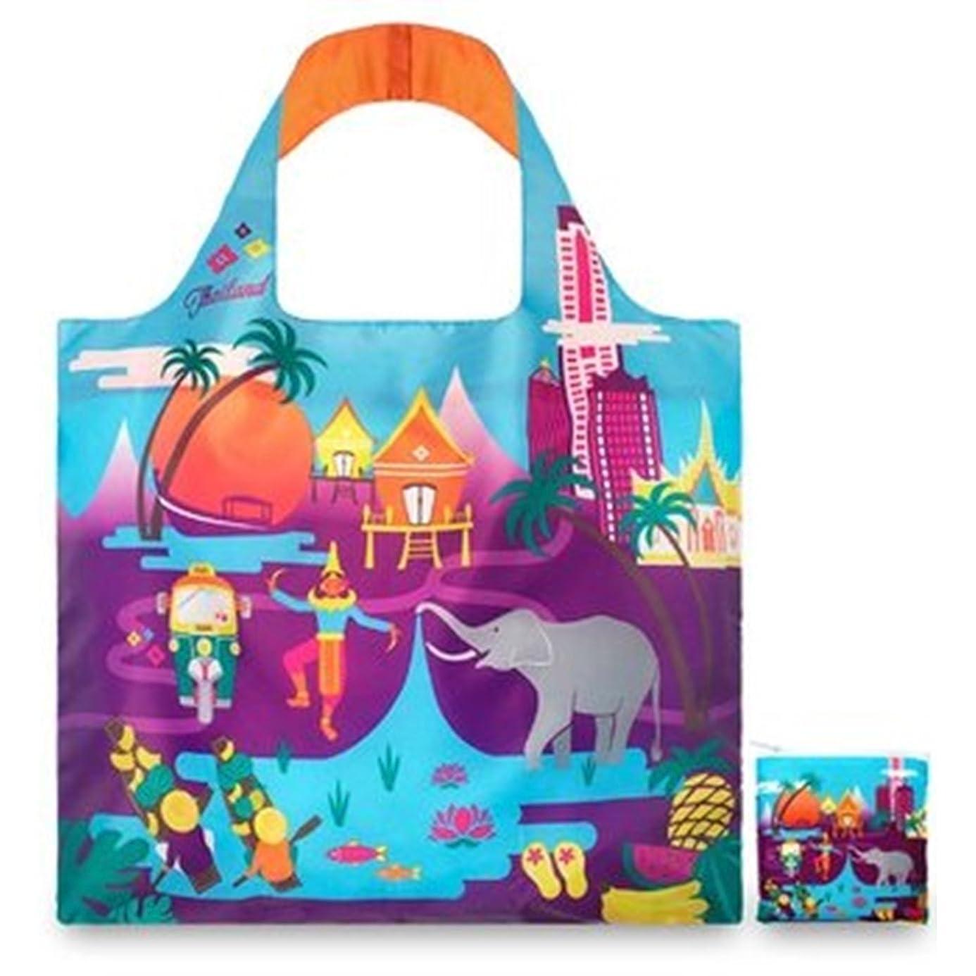 パパ自己尊重コメントLOQI Urban Thailand Reusable Shopping Bag, Multicolored by LOQI