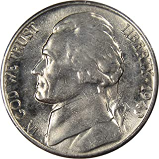 1949 S 5c Jefferson Nickel US Coin Uncirculated Mint State