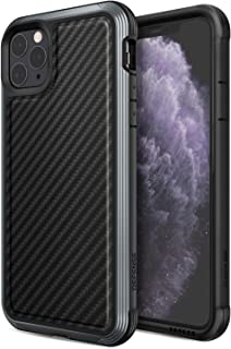 Defense Lux, iPhone 11 Pro Max Case - Military Grade Drop Tested, Anodized Aluminum, TPU, and Polycarbonate Protective Case for Apple iPhone 11 Pro Max, (Black Carbon Fiber)