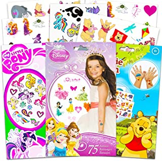 Savvi Temporary Tattoos Party Pack for Girls -- Over 150 Tattoos Featuring My Little Pony, Disney Princess and Hello Kitty!