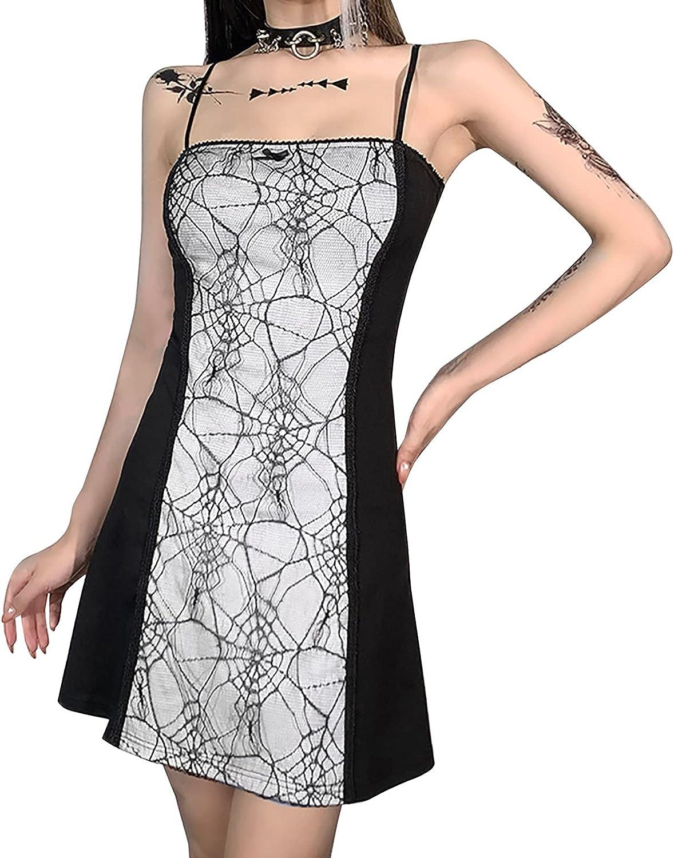 Women Dresses Halloween Gothic Lace Dress Vintage Goth Dresses L