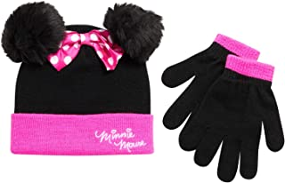 Girls Minnie Mouse Winter Hat and Mitten or Glove Set (Toddler/Little Girls)