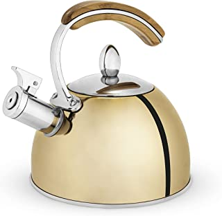 Pinky Up Presley Gold Théière en acier inoxydable pour cuisinière à thé, induction, grand hotpot pour feuilles et café