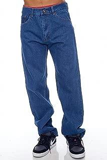 Blue Bay Industries Mens Jeans Regular Fit Straight Leg 5 Pockets Zipper Fly 100% Cotton Denim Boyfriend