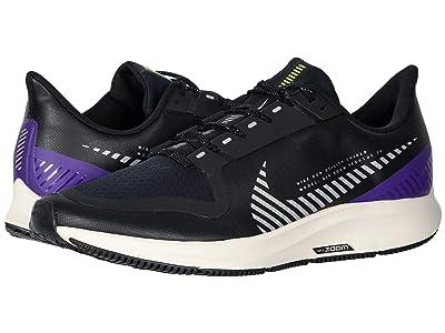 Nike Air Zoom Pegasus 36 Shield (Black/Silver/Desert Sand/Voltage Purple) Men