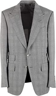 CL - Tom Ford Shelton Checked Gray Sport Coat Size 48 / 38R U.S. in Wool