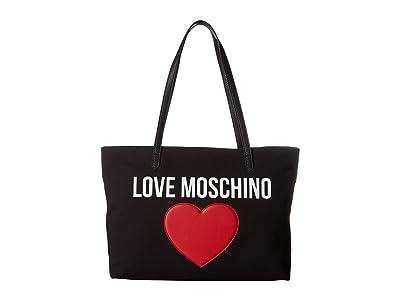 LOVE Moschino Canvas Tote (Black) Handbags