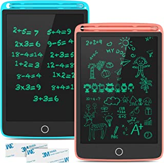 TECBOSS LCD Writing Tablet, Erasable Electronic Digital Drawing Pad Doodle Board 2 Pack