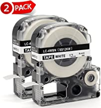 MARKLIFE Label Tape Compatible Epson Labelworks LC-4WBN9 Epson Label Refills Replacement for LW-300 LW-400 LW-500 LW-600P LW-700, Black on White 1/2