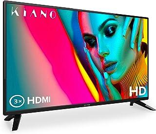 """Kiano Slim TV 32"""" Pouces [80 cm, Triple Tuner, DVB-T2, CI, CI+] Lecteur Multimédia.."""