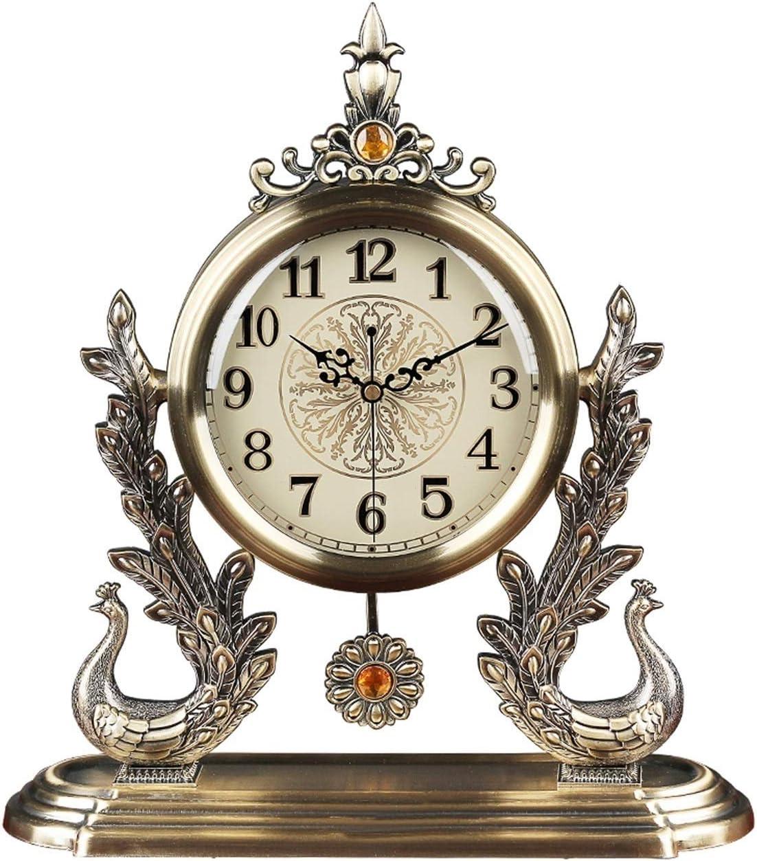 Desk Clock Light Limited price sale Luxury Metal Mute Living Room Swing wholesale Table