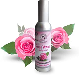 Rose Water Spray for Face - Hair - Body - 2.5oz - Rosa Damascena - 100% Pure and Natural Toner Rose Water f...