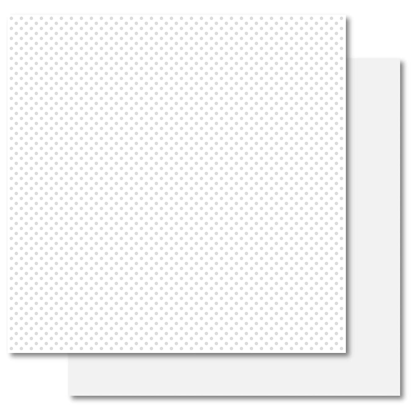 Best Creation 12-Inch by 12-Inch Basic Glitter Paper Simply Elegance, White Dot