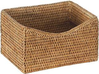"KOUBOO 1060079 La Jolla Rattan Organizing and Shelf Basket, 9.75"" x 8"" x 5.5"", Honey-Brown"