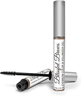 Blissful Brows by Hairgenics – One Step Long Lasting Tinted Eyebrow Gel Infused with Fibers for Thick and Full Brows (Brunette)