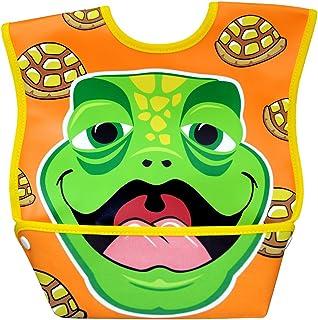 Dexbaby Big Mouth Turtle Leak-Proof Dura Bib w/ Catch-All Pocket - Large | 6 months +