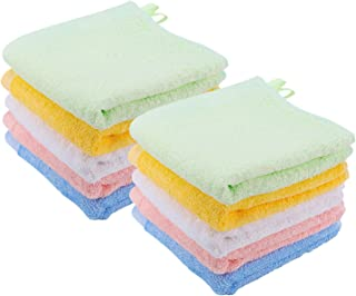 Kyapoo Bamboo Baby Washcloths Natural Towels Ultra Soft and Absorbent Reusable Wipes Perfect for Sensitive Skin Baby Shower Gift 10 Pack