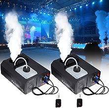 Ridgeyard 2 X DMX Maquina de Humo 1500W máquina de la niebla 2L con mando a distancia para Stage boda disco DJ bar Party spray hasta 5m