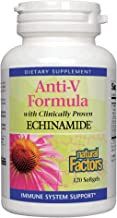 Natural Factors, Anti-V Formula, Echinacea Supplement for Immune and Wellness Support, Organic, Non-GMO, 120 softgels (120...