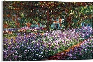 Shenjin The Artist's Garden at Giverny par Claude Monet célèbre tableau à l'huile Poster décoratif Peinture sur toile Art ...
