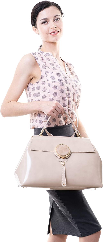 Gilda Tonelli Handbag Genuine Leather Shoulder Bag Beige