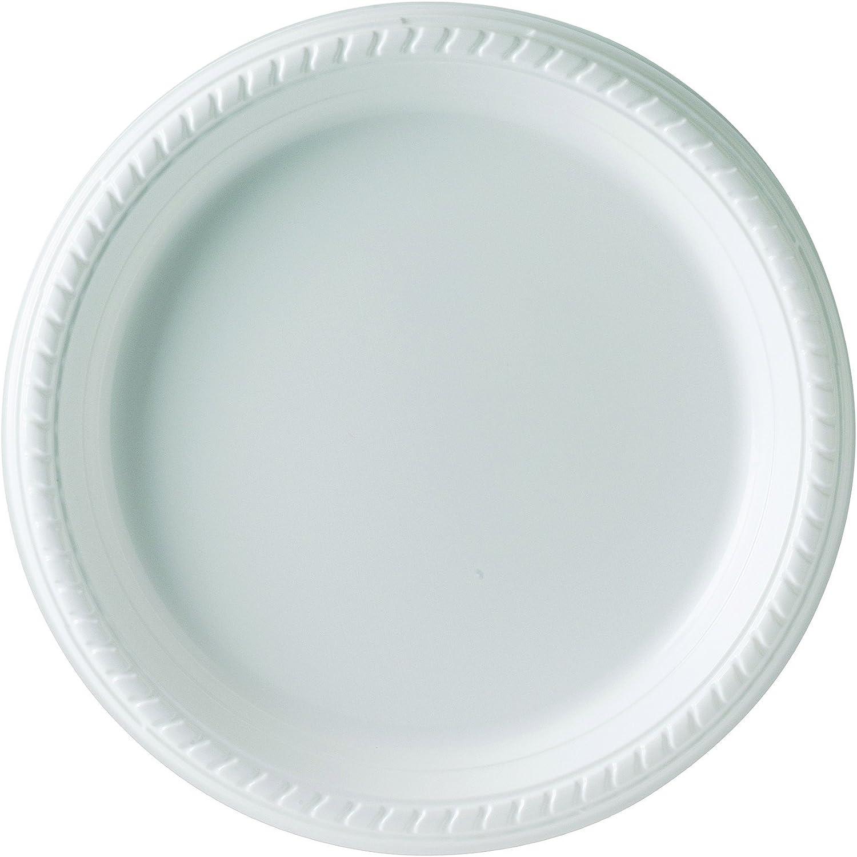 Solo PS95W-0099 9 in White Plastic Plate (Case of 500)