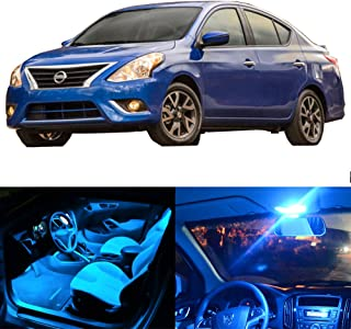 SCITOO LED Interior Lights 8pcs Ice Blue Package Kit Accessories Replacement Fits for 2007-2012 Nissan Versa