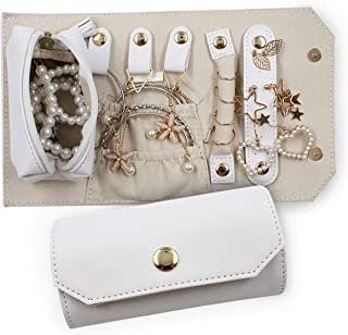 Rampis Travel Jewelry Organiser – Compact Travel Jewelry Case - Tangle Free Travel with Specialized Compartments and Pockets - Travel Jewelry Roll for Rings, Bracelets, Earrings & Much More.