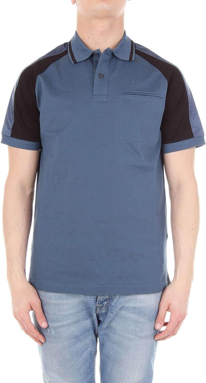 PRADA Men's SJN1881NWW blueee Cotton Polo Shirt