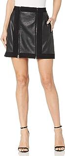 BCBGMAXAZRIA Women's Roxy Faux-Leather Mini Skirt