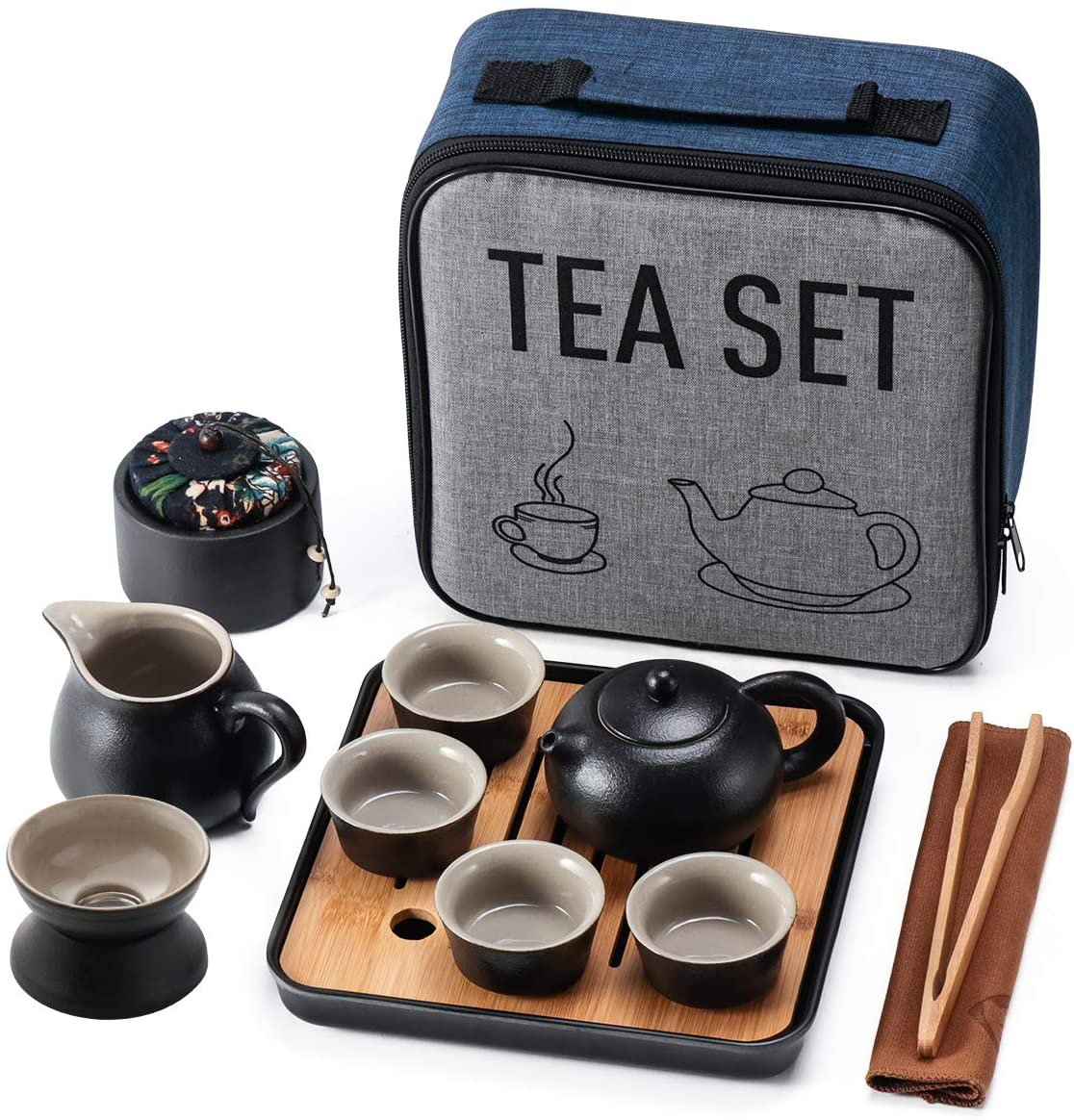 Mini Travel Kung Fu Tea Pot Cup with - Max 84% OFF Chinese Tray Portable Set Indianapolis Mall
