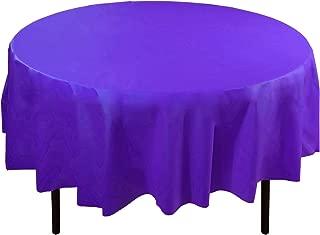 Exquisite 12-Pack Premium Plastic 84-Inch Round Tablecloth - Purple