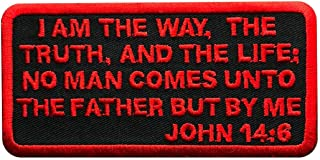 John 14:6 Embroidered Christian Bible Patch [4.0 X 2.0 Iron on Sew on-MJP5]