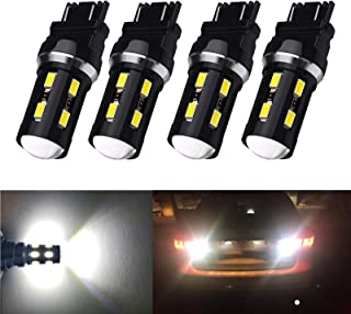 XINYANG 4PCS 3156 3157 LED Car Bulb High Power 18SMD-5630 Chipsets 3157 3457 3057 4157 3056 Led 6000k White Bulbs for Car Truck Backup Reverse Brake Tail Turn Signal Daytime Running Parking Lights