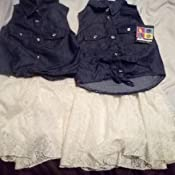 dollhouse Girls/' 2-Piece Summer Lace Short Set with Denim Top