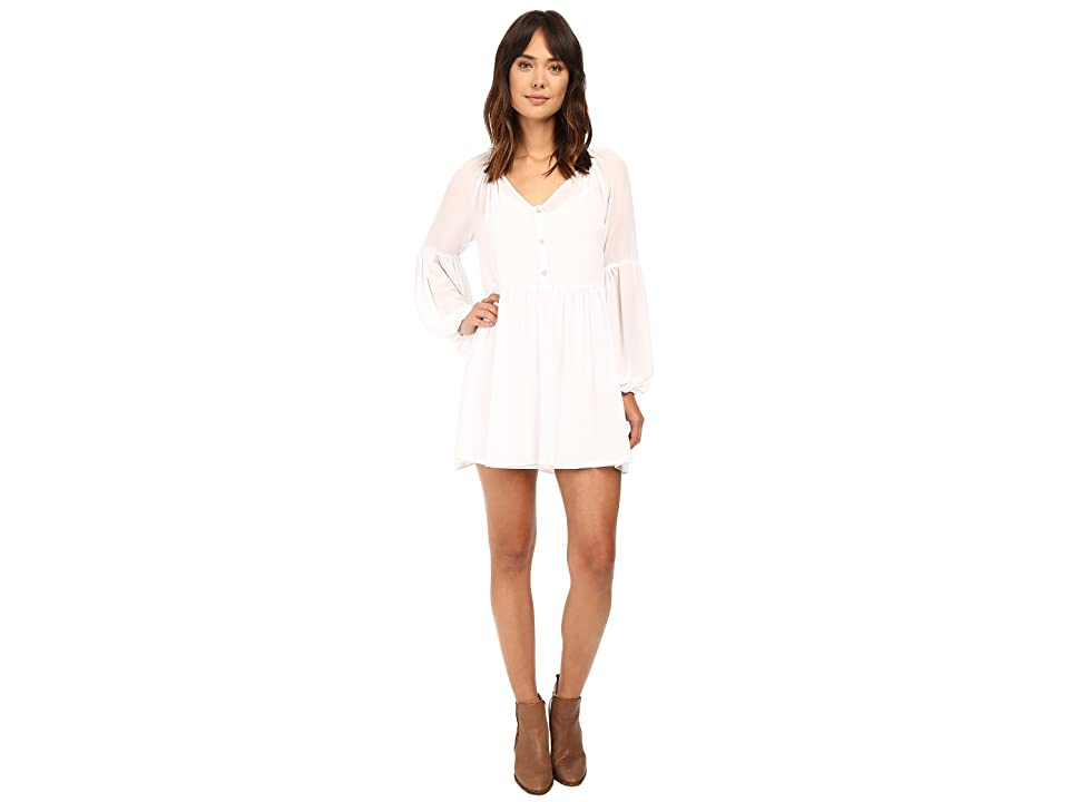 Show Me Your Mumu Sienna Swing Tunic Dress (White Chiffon) Women