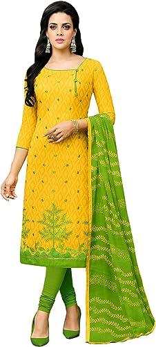 Women Cotton Un Stitched Dress Material