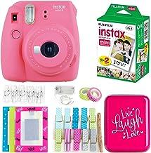 Fujifilm Instax Mini 9 Instant Camera - Flamingo Pink (16550631) + Twin Pack Film (16437396) + Back to School Accessory Kit
