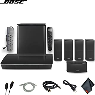 Bose Lifestyle 600 Home Theater System with Jewel Cube Speakers (Black) W/Optical Cable, HDMI Cables, AUX Cable, PowerStrip and More