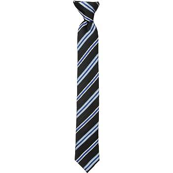 Dockers Big Boys' Stripe Clip On Tie, Black, One Size