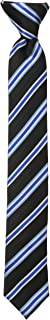 Dockers Big Boys' Stripe Clip On Tie, Black, One Size