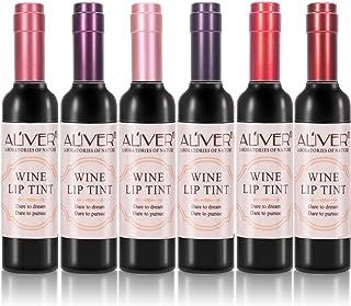 Barra de Labios - 6 Colores Lápiz Labial Líquido Acabado Mate Brillo de Labios Estilo de Vino Tinto Impermeable Pintado de...