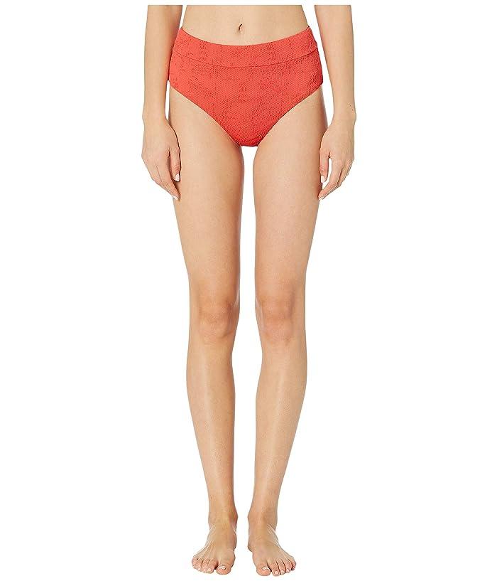 Lucky Brand Doheny Beach High-Waist Pant Bottoms (Hot Coral) Women
